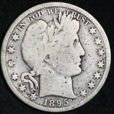 1895-O Barber Half Dollar CHOICE VG FREE SHIPPING E368 ACM