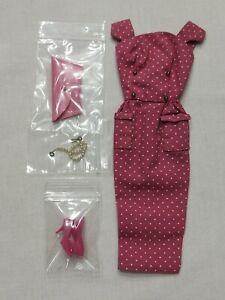 Vintage 1962 Barbie Japanese Exclusive Hot Pink Sheath Outfit Complete Original