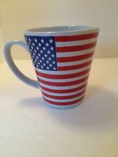 American Flag Coffee Cup Mug Proud to be an American Red White Blue Patriotic
