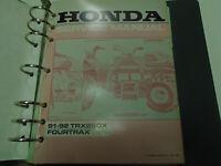 1991 1992 HONDA TRX 250X FOURTRAX Service Shop Repair Manual Factory Used OEM