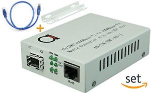 Open SFP slot - Gigabit Ethernet - Fiber Optic Media Converter - to UTP Copper –