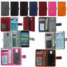 For Galaxy S Note 21 20 ultra 10 5G 9 8 7 6 plus edge 5 4 3 Genuine Leather WC
