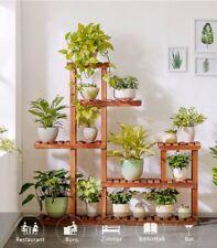 Holz Blumentreppe mit 5 Etagen Blumenregal Blumenständer Pflantentreppe Garten