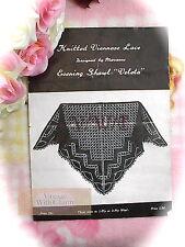 "Vintage 1940s Viennese Lace Knitting Pattern Lady's Shawl ""Veleta"""