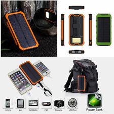 100000 mAH Solar Panel Power Bank LED Dual USB Ladegerät Tragbar Akku Lampe