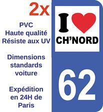ATTENTION 62 59 NORD PAS DE CALAIS 12cm CH/'TI A BORD AUTOCOLLANT STICKER CB001