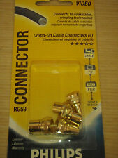 PHILIPS Crimp-On Connectors for Coax Cable RG59 (96 Pieces)
