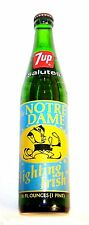 Full 7up Seven Up Notre Dame Irish Football Soda Pop Bottle Can Ticket NCAA Ofr