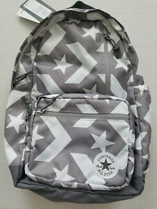 Converse All Star Chuck Taylor Go Backpack Gray With White Stars NWT