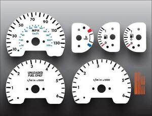 1999-2002 Land Rover Discovery Dash Instrument Cluster White Face Gauges