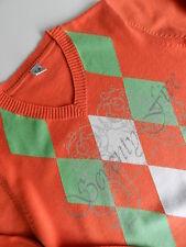 Jersey naranja de rombos de Zara. talla 7-8