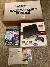 Sony PlayStation 3 160GB Black Console SEALED RARE AMAZON FAMILY BUNDLE NEW PS3