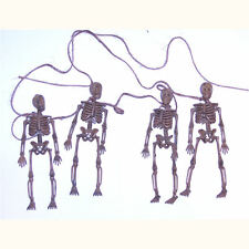 "4 x Spooky Skeleton Garland Halloween Decoration - Four Models on 60"" String"