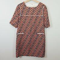 [ LANDI ] Womens Diamond Print Dress  | Size XXL or Best for AU 16 / US 12