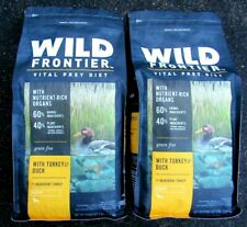 2 Bags Wild Frontier with Turkey & Duck  *Grain Free*  Puppy Dog Food 8 lbs
