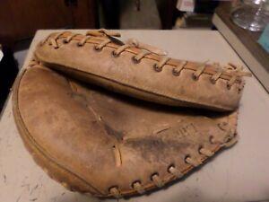 Vintage Johnny Bench Rawlings RCM30 Baseball Catcher Glove Left Hand Mitt 1970s