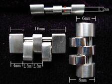 TWO STEEL SCREW ADJUSTABLE LINKS FOR ROLEX 20MM MEN JUBILEE WATCH BAND BRACELET