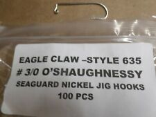 EAGLE CLAW --- 635  #3/0 JIG HOOK  - 100 PCS PER PACKAGE