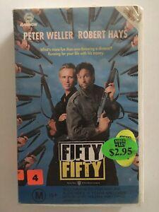 FIFTY FIFTY VHS Ex-Rental Peter Weller Robert Hays 1992 VHS