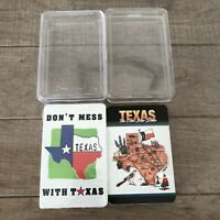 Rare NOS 2 Packs Playing Cards DON'T MESS with TEXAS & LONE STAR STATE w/ Cases