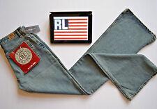 Ralph Lauren Polo Womens Jeans Retro Denim Rasta Flare Fit Blue W27 L34