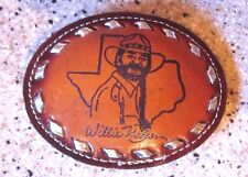 Willie Nelson Country Western Outlaw Music Leather Belt Buckle