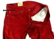 New Mens LEVIS 514 Straight Corduroy Pants 36 x 34 AUBORN RED Jeans brick slim