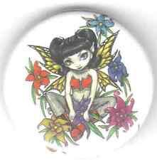 Flower Fairy pin badge emo goth gothic magic Jasmine