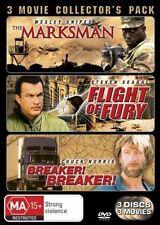 The Marksman  / Flight Of Fury  / Breaker! Breaker! (DVD, 2008, 3-Disc Set)