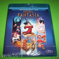 FANTASIA CLASICO DISNEY NUMERO 3 - COMBO BLU-RAY + DVD NUEVO Y PRECINTADO