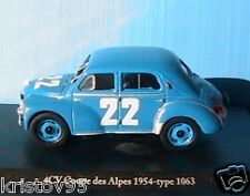 RENAULT 4CV COUPE DES ALPES 1954 TYPE 1063 ELIGOR 1/43