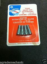 TYRE VALVE EXTENSIONs X 4 PCE CHROME ~ALL CARS & TRUCKS & BIKES 19mm+ EXTENSIONs