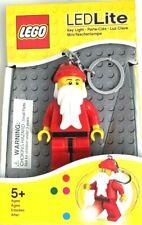 NEW! LEGO Led Lite LED Flashlight Key Chain Santa Claus Key Light Keychain Cars