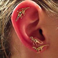 3/6Pairs Dinosaur Ear Stud earring charm Accessory Women Cartoon animal Jewelry