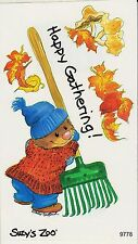 Suzys Zoo Scrapbooking Stickers 50 Mods Happy Gathering  Leaves Fall Autumn Rake