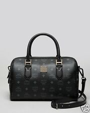 NWT MCM Heritage Medium Boston Bag Black MWB4AVI48 BK001 ITALY LAST