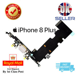 White Replacement Charging Dock Port Flex Headphone jack Mic for iPhone 8 Plus