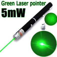 5mw 532nm 2 in1 Green Laser Pointer Pen Beam Light Cap Visible Projector ZHNG