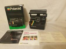 Polaroid 600 One Step Flash Instant Film Land Camera Original Box Booklet Insert