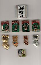 10 pins pin badge MISHA BEAR OLYMPIC Olympics GAMES MOSCOW 1980 80 USSR Russia