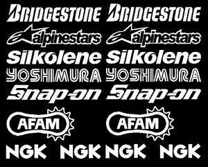 Belly Pan Motorbike Fairing Decals Stickers Set C  (other sets avail visit shop)