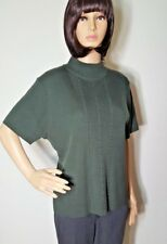 Requirements Sweater Blouse Women X Large Top Green Ribbed Turtle Neck Knit Soft