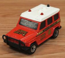 Vintage Matchbox 1984 Mercedes Benz 280 G Fire Department Collectible Car *READ*