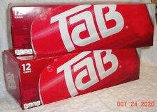 TAB COLA 24 CANS TWO FRIDGE PACKS 12 OZ EACH NEW IN BOX DIET SODA DISCONTINUED