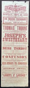 """Portsmouth New Theatre Royal 1890 Poster """"Miss Tomboy"""""""