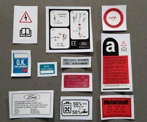Ford Escort XR3i Engine Bay Decal Sticker Set