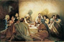 """Home Decor print Abstract oil painting art canvas,THE LAST SUPPER 24×36"""""""