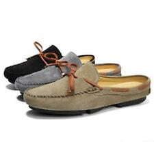 New Mens Slip On Slippers Mule Casual Driving Moccasins Faux Suede  Shoes Loafer