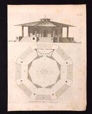 Antigüedad 1800 impresión constructores de Arquitectura Diseño de revista para la caza Villa XLII