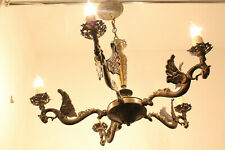 Set of (Two)  Antique French Neo Gothic Dragon Chandeliers